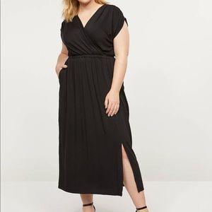 Lane Bryant 26 / 28 Black Maxi Dress